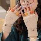 手套手套女冬天加絨加厚保暖可愛學生寫字針...