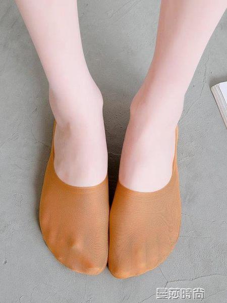 襪子襪子女黑色船襪淺口冰絲超薄款硅膠防滑不掉跟全隱形夏季韓國短襪 曼莎時尚