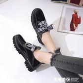 英倫風小皮鞋女學生韓版百搭中跟女鞋子2019新款春季單鞋春款早春 米希美衣