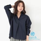 ❖ Hot item ❖  前短後長棉質襯衫上衣 - earth music&ecology