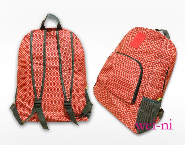 wei-ni 花紋款WeekEight後背包 旅行購物袋 輕巧收納大容量萬用包 旅行包 單肩包 雙肩包