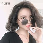 限量現貨◆PUFII-墨鏡 細金邊圓鏡片墨鏡/眼鏡- 0521 現+預 夏【CP18540】