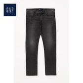 Gap男裝中腰直筒牛仔褲長褲500017-灰色水洗