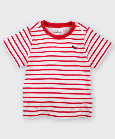 【特惠6折】Hallmark Babies 小馬紅白間條條紋短袖上衣 HD1-R13-03-KB-PR