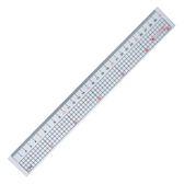[奇奇文具]【巴士】110918 30cm 透明塑膠直尺(方格)