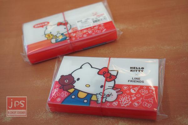 Hello Kitty×LINE 二代12層風琴夾 (KITTY紅)