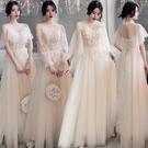 禮服 香檳色20新款伴娘禮服女平時可穿仙...