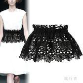 腰封 夏時尚蕾絲綁帶腰封系帶腰帶女式寬裝飾襯衫 BF6312【旅行者】