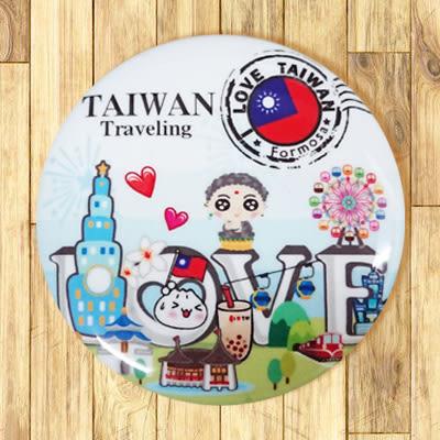 【胸章】郵戳台灣 # 宣傳、裝飾、團體企業 多用途胸章 5.8cm x 5.8cm