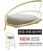 簡約吧台椅鐵藝吧椅金色高腳凳現代餐椅 金屬鐵線北歐酒吧椅子 快速出貨 交換禮物