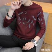 秋冬男韓版上衣長袖T恤潮流男生打底針織衫毛衣加絨加厚外套衛衣 QG14310『Bad boy時尚』