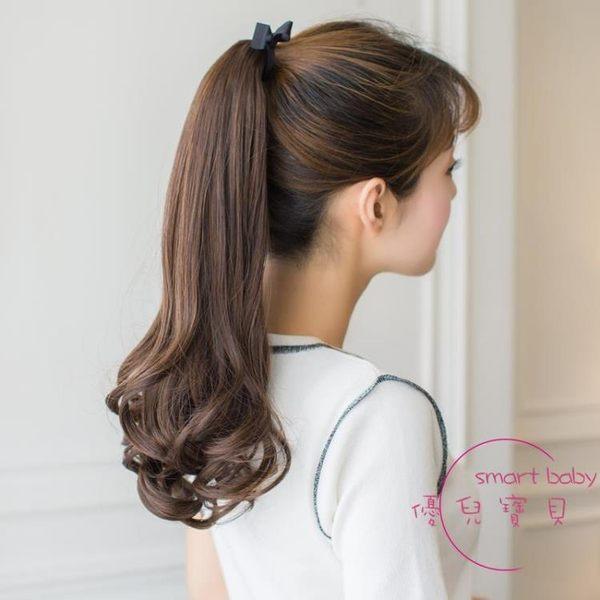 假髮 假髮馬尾短假髮假髮女短髮短款梨花波浪卷綁帶式馬尾