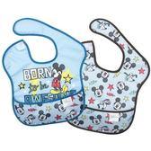 美國 Bumkins 兒童防水圍兜 (2入)- 藍色米奇