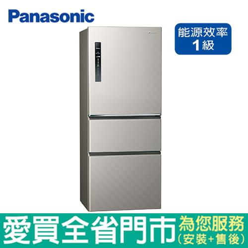 Panasonic國際500L三門變頻冰箱NR-C500HV-S含配送到府+標準安裝【愛買】