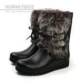 Clarks Minx Jeanie 皮革 舒適 絨毛 保暖 好穿脫 靴子 戶外休閒鞋 黑色 女鞋 no644