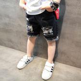 雙十一狂歡購 童裝男童牛仔短褲夏裝2018新款兒童韓版五分褲中大童馬褲潮