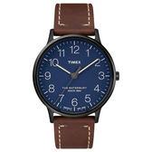 TIMEX 天美時 手錶(TXTW2R25700) Waterbury系列 藍色面/咖啡皮革錶帶