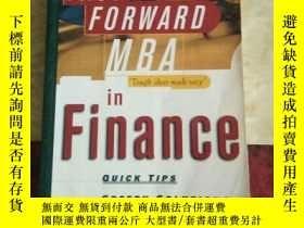 二手書博民逛書店The罕見Fast Forward Mba In Finance (fast Forward Mba Series