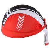自行車頭巾 防曬-多色拼接箭頭造型男女單車運動頭巾2色73fo23【時尚巴黎】