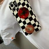 韓國ins法式小眾不規則棋盤格蘋果手機殼iphone12/11Promax/Xr/78Plus/Xsmax防摔保護套