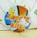 【震撼精品百貨】Hello Kitty 凱蒂貓~KITTY別針-圓形造型-籃球