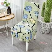 椅套 家用彈力連體餐桌椅子套罩現代簡約凳子套罩酒店餐椅墊套裝通用 8色