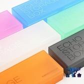 文具鉛收納盒鉛筆盒筆盒透明彩色磨砂塑料大容量兒童【古怪舍】
