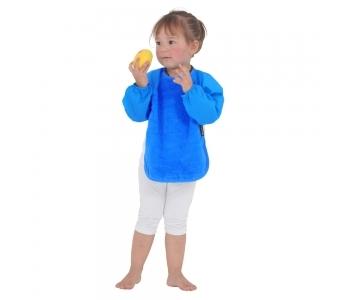 紐西蘭 Mum 2 Mum 神奇長袖吸水圍兜-加大藍 (18M~36M) 吃飯衣 口水衣 防水衣