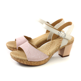Kimo 涼鞋 跟鞋 粗跟 女鞋 粉紅/白 KAISF106067 no821