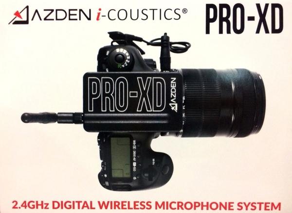 日本 AZDEN PRO-XD 2.4G 無線領夾手機直播麥克風 TRRS 單眼適用 可監聽 【公司貨】