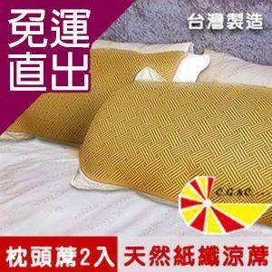 凱蕾絲帝 軟枕專用透氣紙纖平單式枕頭涼蓆2入【免運直出】