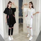 韓版休閒跑步運動套裝女裝夏裝時尚潮寬鬆兩件套 LQ2511『小美日記』