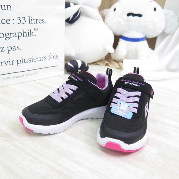 Skechers DYNAMIC TREAD 中童款 運動鞋 防水 魔鬼氈 302425LBKLV 黑粉【iSport】
