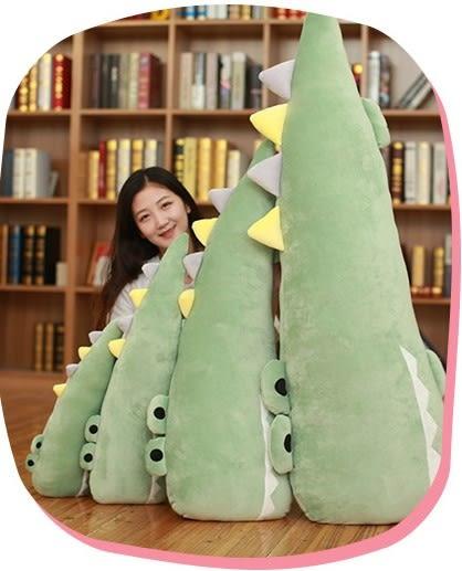 【55公分】超萌鱷魚抱枕 柔軟羽絨棉 絨毛娃娃 靠墊 玩偶 午睡枕 聖誕節交換禮物 生日禮物 送禮