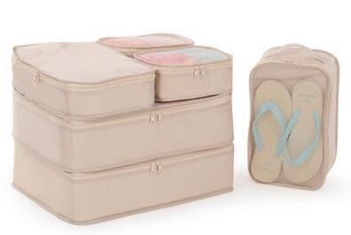 旅行收納袋6件套旅遊行李箱整理包便攜衣服內衣物整理袋套裝