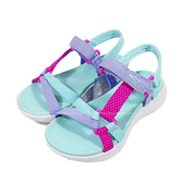 (B6) SKECHERS 女童鞋 涼拖鞋 ON-THE-GO 600 厚底魔鬼氈 302117LAQUA 藍 [陽光樂活]