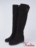kadia.超顯瘦拼接貼腿過膝長靴(8853-95黑色)