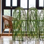 屏風 模擬青苔裝飾屏風 柵欄 籬笆 圍欄 鐵藝園藝可連接無限長 果果輕時尚 NMS