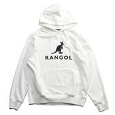 KANGOL 白  黑色大LOGO 帽T 冬季服飾  男 (布魯克林) 6951105100