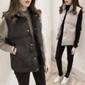 冬季馬甲女短款加厚保暖馬褂韓版學生寬鬆背心女秋冬棉服坎肩外套  極有家