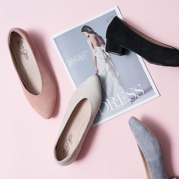 尖頭鞋 遇見喬安錐口低跟鞋。Bubble Nara波波娜拉。修修腳羊軟皮,防磨腳設計 DB05-8