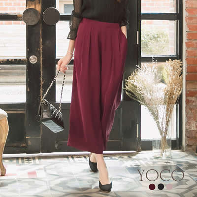 東京著衣【YOCO】氣質美人多色飄逸寬管褲-S.M.L(172261)
