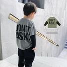 男童T恤博博豬童裝 男童假兩件T恤裝長袖中大童韓版兒童純棉洋氣上衣潮