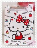 ♥小花花日本精品♥ Hello Kitty 坐姿 蝴蝶結 點點 吸手指 夾板附紙 蘋果 牛奶 蛋糕 60009302