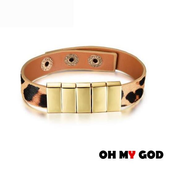 OH MY GOD個性龐克女款皮手環