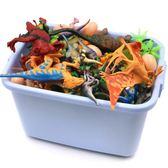 兒童小恐龍套裝仿真動物橡膠霸王龍模型塑膠男孩玩具3-6歲半1-2周 蜜拉貝爾