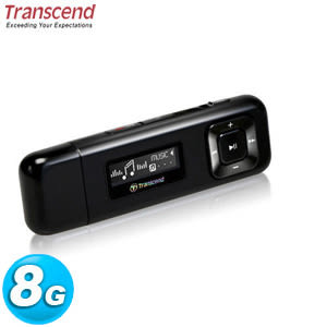 Transcend 創見 MP330 MP3 隨身聽 8GB 黑