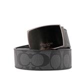 【COACH】C LOGO皮革雙頭禮盒組(寬)(灰黑) F22540 BK/BK