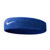 Nike Swoosh Headband [NNN07402OS] 男女 簡約 頭帶 運動 休閒 毛巾 吸汗 藍