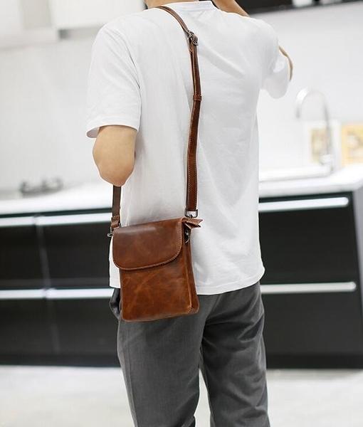 FINDSENSE Z1 韓國 時尚 潮 男 皮質 休閒 迷你挎包 斜背包 單肩